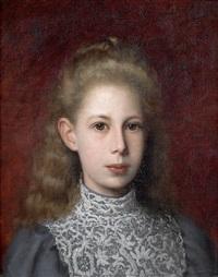 portrait de jeune fille en buste by jules quesnet