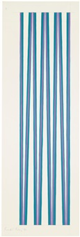violet crossing turquoise by bridget riley