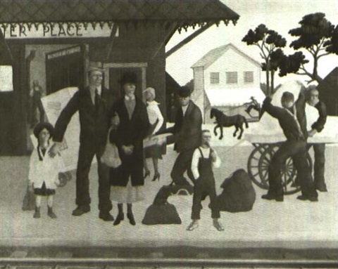 train station painted in the 1930s by hollis holbrook