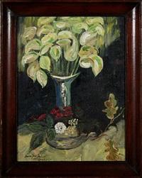 vase with white flowers by josef dubiel von lerach