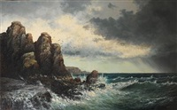 wind against tide, cape arundel, maine by william henry hilliard
