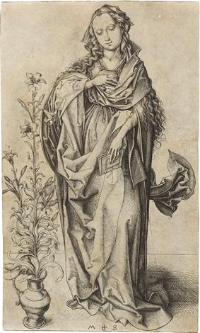 die heilige jungfrau der verkündigung by martin schongauer