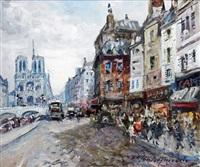 paris, les quais et notre-dame by merio ameglio
