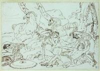 tancrède et herminie (after poussin) by jean baptiste louis (baron gros) gros