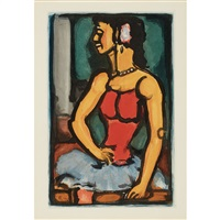 douce amere (from cirque de l'etoile filante) by georges rouault