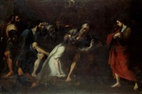 christ washing the apostles' feet by agostino scilla