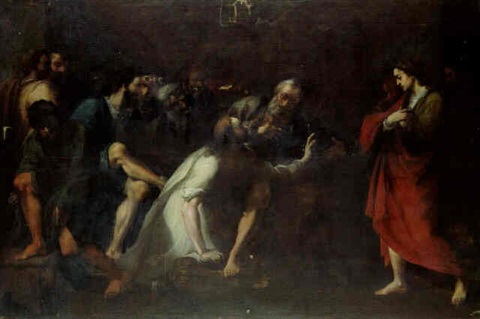 christ washing the apostles feet by agostino scilla