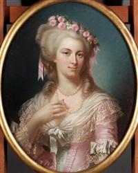 portrait of a lady (marie antoinette?) by théodore fantin-latour