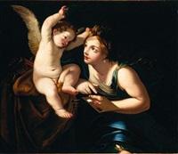 allegoria della pittura by francesco giovanni gessi