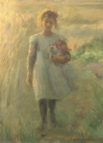 gathering flowers by louise alice andrine van blommestein