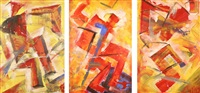 passion of futurism (triptych) by nikolai filatov