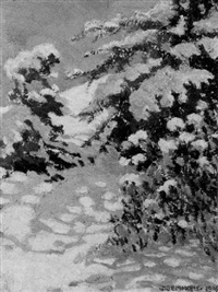 snow shadows, newton, massachusetts by dorothy stanley emmons