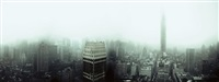 mist over manhattan, new york city by sean kennedy santos