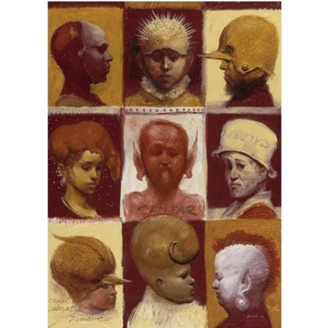 nueve cabezas by roberto fabelo