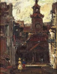 church scene by adriaan hendrik boshoff