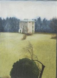 paesaggio con casa by giovanni macciotta