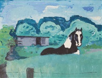 horse on a pasture by hella jacobs