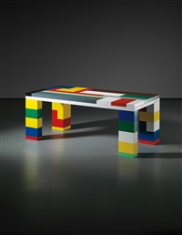 lego memphis table by jonathan monk