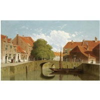 a view of amersfoort by jan weissenbruch