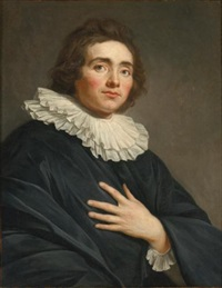 portrait of an actor, half length by guillaume voiriot