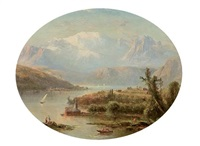 lake thun, the jungfrau by régis françois gignoux
