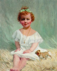 the little girl in the white dress by louise amelie landre