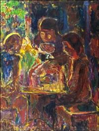 pöydän ääressä by rafael wardi