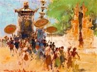 balinese processie by gerard adolfs
