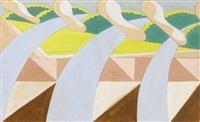 linee forza di paesaggio (landscape lines of force) by giacomo balla