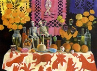 altar de muertos con mantel bordado by elena climent