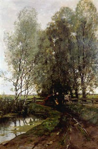 naar de wei (going to the meadow) by theodore emile achille