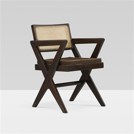 armchair from the college of architecture chandigarh by pierre jeanneret