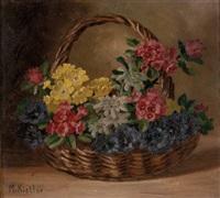 alpenblumen in korb by maria kistler