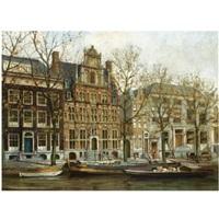 a view on het huis met de hoofden at the keizersgracht, amsterdam by jan geerard smits
