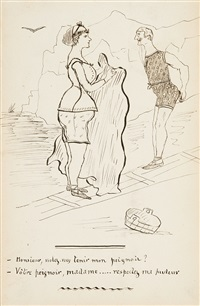 skizzenbuch (27 works) by rené (victor) auberjonois