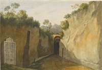entrance to the grotto of posillipo, naples by john warwick smith