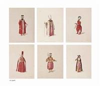 the costume of turkey (after octavien dalvimart) (8 works) by j. dadley
