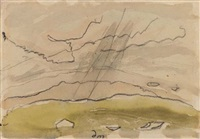 sun drawing water (study) by arthur dove