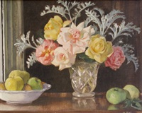 still life study of roses and apples by rose brigid ganly