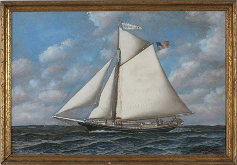 the schooner yacht providence by antonio jacobsen