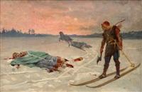 death of bishop henrik by albert edelfelt