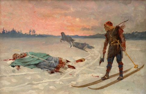 death of bishop henrik by albert edelfelt