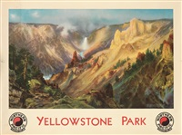 yellowstone park / northern pacific railway by thomas moran