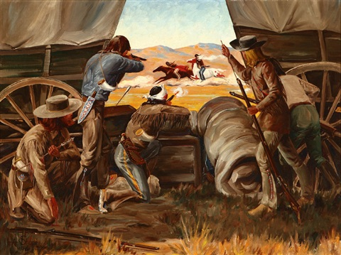 cowboys shooting at indians by irvin shorty shope