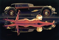 american beauty, double vision, pin up et la buciali by greg hildebrandt