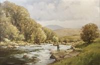 ashleigh falls near leenane, connemara by arthur h. twells