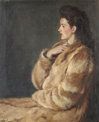 portrait de la femme de l'artiste by léonid frechkop