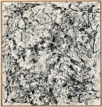 portrait of v.i lenin by v. charangovitch (1970) in the style of jackson pollock iii by art & language