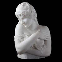buste d'une jeune fille, main gauche devant son sein by henri jacobs