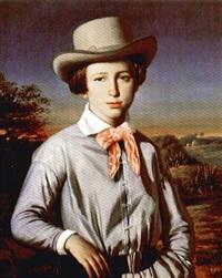jeune homme au chapeau by françois lauret